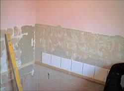 Tiling above bath
