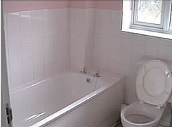 Completed bathroom install - bath fitted and all tiling completed