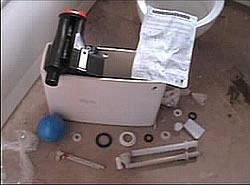 Toilet cistern including all parts