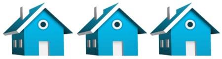 3 Blue Houses