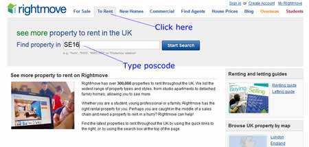 Rightmove Property Search