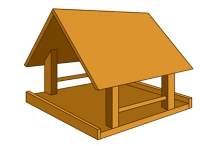 Example of completed bird table design