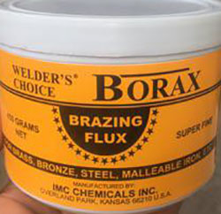 Clean the faces of steel properly to remove dirt and grease using Borax