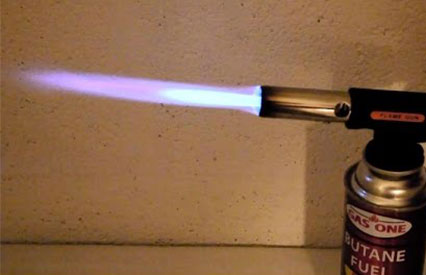 Adjust gas and air control of brazing torch to get the required flame strength