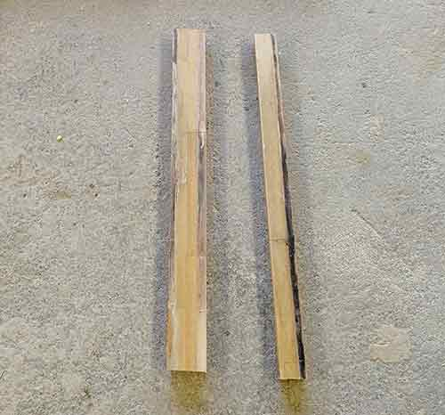 3x2 timbers used as levers