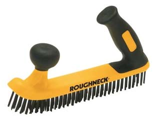 Two handed wire brush