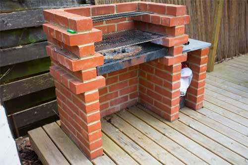 Diy guide to building a brick bbq in a patio area how to for Diy brick projects