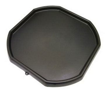 Portable cement and mortar base tray