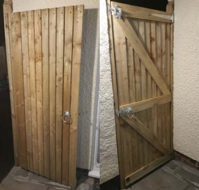 Completed garden gate