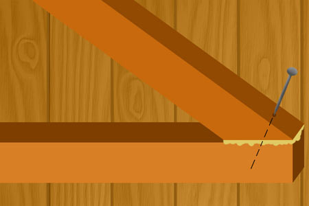 Gle and screw diagonal struts