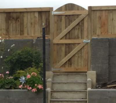 A DIY ledge and brace gate or garden door