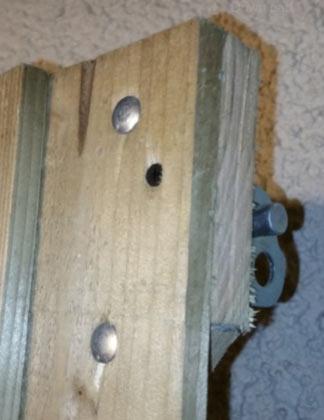 Padlock gate bolts