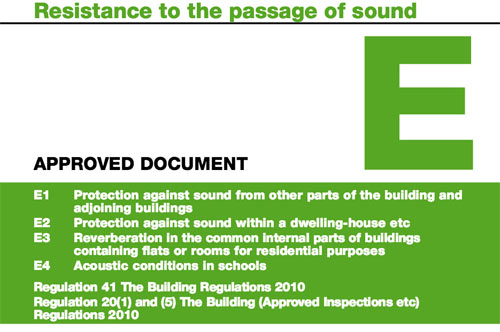 Approved Document E of the UK Building Regulations