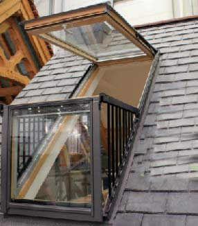 Accessible roof window under Part Q