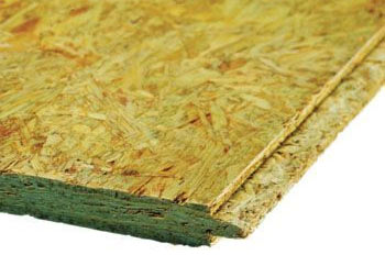 OSB or Stirling board used to deck a flat roof