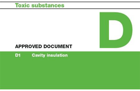 Building Regulations Approved Document D Covering Toxic