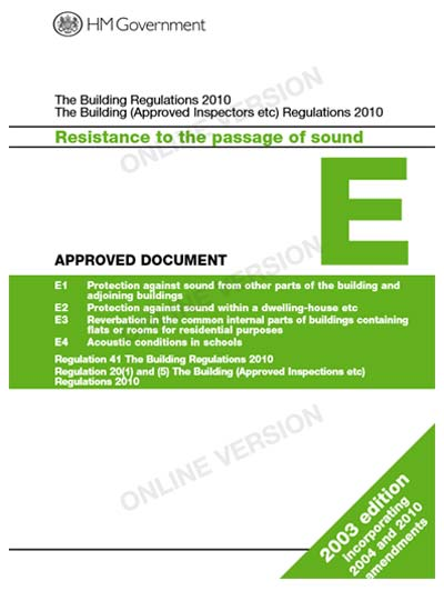 Building regulations document e resistance to the for Construction rules and regulations