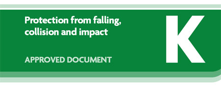 Building regulations K 2010 - Protections from falling, collision and impact