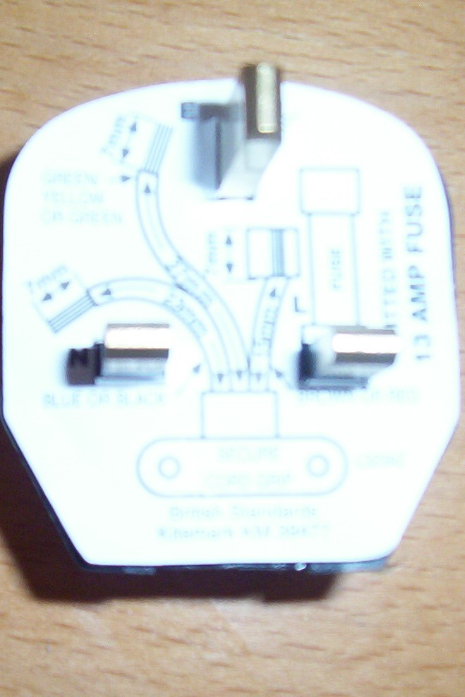 3 pin domestic UK plug