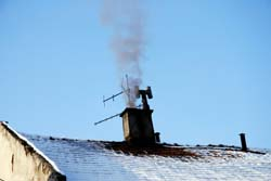 Check chimney flue is clear and sound