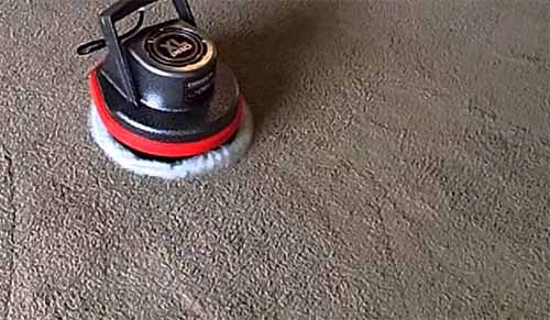 Bonnet carpet cleaner