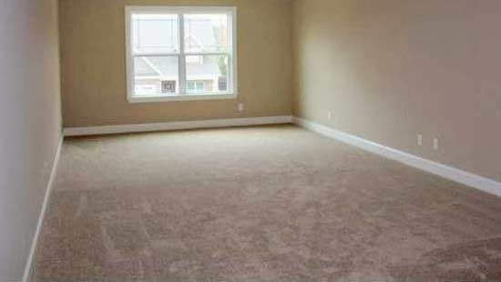 Room cleared ready for carpet cleaning