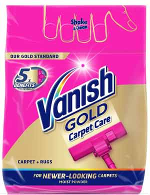 Vanish carpet cleaning powder