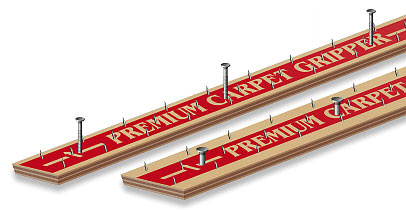 Carpet gripper strips