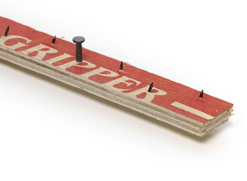 standard carpet grip used to hold a carpet in place