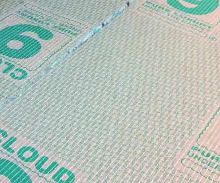 Lay your underlay the right way up