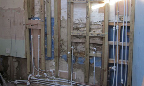 Speedfit plumbing used in bathroom renovation