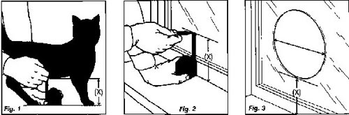 Measuring for a cat flap