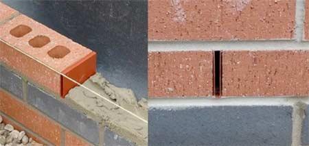 Weep holes in brickwork
