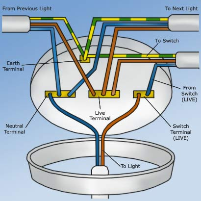 wiring a ceiling rose how to wire a ceiling rose correctly rh diydoctor org uk wiring ceiling lights in parll wiring ceiling light diagram
