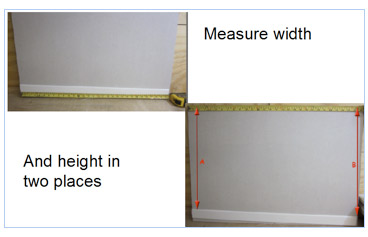 Calculate your wall and floor tile amounts by measuring in two places