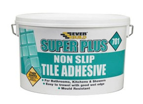 Do not cut corners by using a really cheap tile adhesive for your bathroom walls