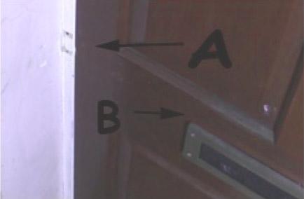 The lock rail of an external door