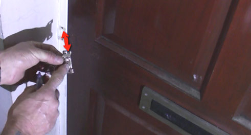 How to mark out for the bracket on a door security chain