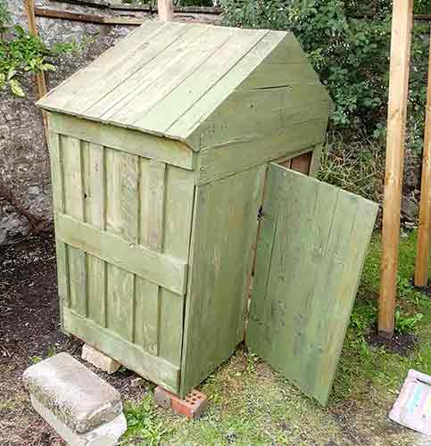 Chicken coop treated with timber treatment