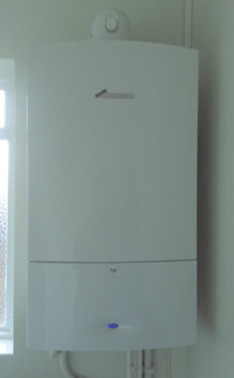 Wall mounted boiler