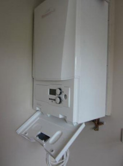 Modern gas fired wall mounted combi-boiler