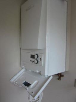 Modern gas fired wall mounted combi-boiler