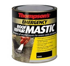 Emergency roof and gutter repair mastic