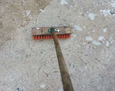 Brush Washing A Patio