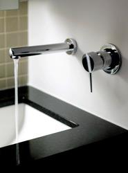 Sealed and polished granite bathroom worktop