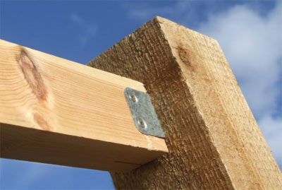 Fence rail bracket to fix rail to the fence post