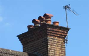 Add a chimney cowl to your chimney pots to reduce chimney damp