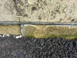 A damp proof course prevents rising damp