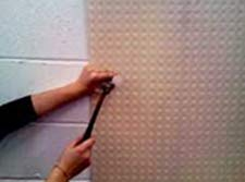 Attach a mesh membrane to your wall to stop severe salt problems showing through on your wall