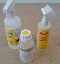 Use an anti-mould cleaner to remove the mould from your walls